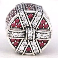 Wholesale 2016 Winter Bead Sterling Silver Red Shimmering Gift Charm Fits European Pandora Jewelry Bracelet Necklace Pendant Christmas Gifts