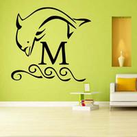 Precio de Calcomanías de decoración de la habitación-El delfín cualquier personalizó la etiqueta engomada linda linda interesante del arte de la sala de estar de la etiqueta engomada de la pared del vinilo Diy adorna
