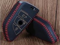 al por mayor bmw cartera de cuero-Cartera de cuero del caso de la cubierta de la llave del coche para el nuevo keychain alejado elegante del coche de BMW X5 X6
