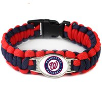 american sports washington - Pieces Washington Baseball Team Nationals Paracord Survival Friendship Outdoor Camping Sports Bracelet Blue Red Cord