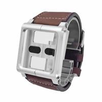 al por mayor correa de cuero nano-Venta al por mayor-banda de reloj de cuero para iPod Nano 6to 6 Generación Multi-Touch pulsera pulsera Pulseira Relojes