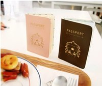 Wholesale 1pcs Passport holder Korea cute passport package ticket clip travel document package anti degaussing passport book protective sh