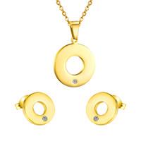 Acheter Mariage met en vente-Ensemble de bijoux plaqué or 2016 Design de vente chaude autrichienne collier de cristal Bracelet boucles d'oreilles ensembles pour les femmes Set de mariage