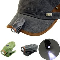 Wholesale New Arrival Bright Clip On LED Cap Light Torch Fishing Camping Hunting Outdoors Cap Lamp