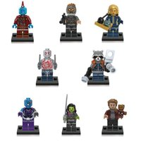 Plastics Unisex > 6 years old 8pcs set Super Heroes Guardians of the Galaxy Star-Lord Rocket Raccoon Groot Building Blocks Models Bricks Sets Toys