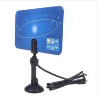 Wholesale Digital Indoor TV Antenna HDTV DTV HD VHF UHF Flat Design High Gain US EU Plug New TV Antenna Receiver