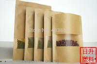 beads bean bag - 100pcs cm stand up kraft papre ziolock bag with matte window zipper resealable coffee bean paper pouch Fragrant Beads satchel