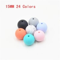 Wholesale BPA FREE mm Loose silicon beads for teething necklace