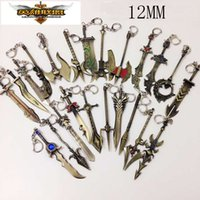 Wholesale New League of Legend charm weapons keychain with ADC JUNGLE MID SUPPORT pendant fit necklace diy jewelry DIY