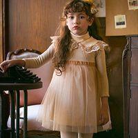 autumn berries - Amber Berry Tutu Fleece Dress Girls Western Fashion Party Dress Lace Neckline Christmas Dresses