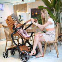 Wholesale European Luxury Baby Stroller in High View Prams Folding Baby Carriage Poussette Kinderwagen bebek arabas colors