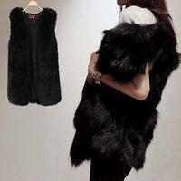 Wholesale Autumn Winter Faux Fur Vest Women Outerwear V neck Waistcoat