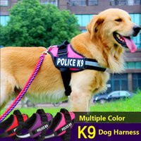 Wholesale Reflective Dog Harness Vest JULIUS Police K9 Medium Large Pet Dog Training Vest Nylon Chest strap traction Four colors for dog collar