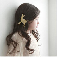baby african animals - Children s hair accessories babies prefer ornaments fawn hair clips very cute you will like it shipping free
