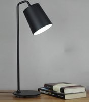Wholesale Contemporary contracted LED desk lamp wrought iron the learning that shield an eye creative personality study office bedroom table lamps