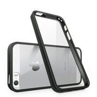 оптовых silicone tpu bumper-Для iPhone 7 плюс Резиновый бампер чехол Прозрачный Тонкий прозрачный пластиковый PC силиконовый чехол ТПУ бампер кадров жесткий задняя крышка для iphone 7 6S 5SE