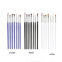 art painting for sale - 2016 Hot Sale Nail Brush Black Purple White Set Polish Nail Brush Drawing Pen for Finger Painting Nail Art Tools L