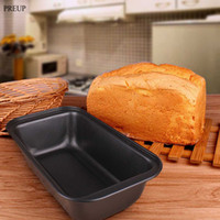 Wholesale PREUP Newest Kitchen Tools Non stick Bread Toast Mould Bread Loaf Pans Baking Tools Carbon Steel Baking Cake Mold Rectangle
