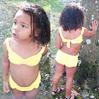 Bikinis Girl 0-6T 2017 Adorable Yellow Beauty and the Beast Toddler Baby Girls Tankini Bikini Swimwear Swimsuit Bathing Suit Beachwear Set 0-6Y fast DHL