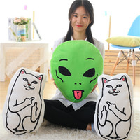 Wholesale pc cm Creative cheap cat alien pillow middle finger Funny cat cheap personalized birthday party gift