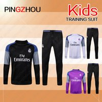 Wholesale 2016 Real madrid KIDS Tracksuits top quality Ronaldo Training suit BENZEMA JAMES BALE kids football Tracksuits