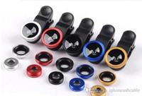 angle eyes - 3 in Universal Clip Fish Eye Wide Angle Macro Phone Fisheye glass camera Lens For iphone s plus s7 s6 note smart phone