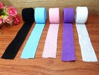 achat en gros de rouleaux de ruban ennemi-Cadeau de fête cadeau emballage ruban soie, strengh rabat sur élastique - Ruban élastique pour ceinture taille FOE 100yds un rouleau
