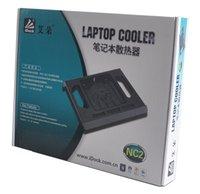 Wholesale Colorful Laptop Cooler NC1 Notebook Cooler Have LED Light Fan Single Fans USB Laptop Cooler Upgrated Cooler Laptop Cooling Pad Five Color
