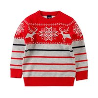 Wholesale New Boys Clothes Winter Autumn Boy Outwear Sweater Child Sweater Children Christmas Deer Sweater Years Kids Clothing