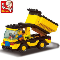 action truck - New Arrival set DIY Building Blocks Toys Construction Vehicles Action Figure Toy Children Puzzle Educational Truck Toy