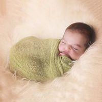 Wholesale cm Stretch Knit Wrap Newborn Photography Props Baby Kids Nubble Wraps Maternity Scarf Hammock Women Shaw Hot Sale