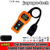 Wholesale U480 Scanner Car Fault Code Reader CAN BUS OBD2 EOBD Engine Diagnostic Tool