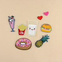 Wholesale 80Pcs popular DIY Cartoon Embroidered Patches iron on Badges Sew On Fabric Stickers For Bags Clothes Hat Ornament