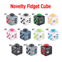 Big Kids Multicolor Plastic Novelty Fidget Cube Stress Relief Toys 14 colors for kids and adults Decompression stress ball wisdom Children Christmas Gift 2107168