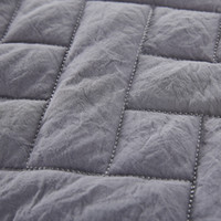 Wholesale New arrival dark grey quilt set washed microfiber with reactive dying eco freindly fabric good for health