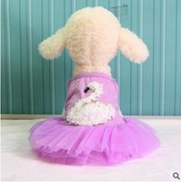 Dresses Spring/Summer Easter Pet Dress 2017 Summer Swan Dress Dog Clothes Skirt Cute Princess Wedding Clothing Dog Puppy Small Dog Clothes Cheap Pet Apparel XS-XXL 75