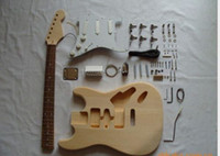 Wholesale Electric guitar semi finished unassembled kits ST Electric guitar