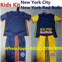 Wholesale 2016 New York Kids Kit Soccer Jerseys City Top Thailand Red Bulls Children Youth Football Uniform Set Home Away Boy Child Kid