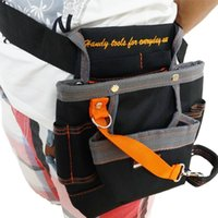 Wholesale High Quality Pockets Oxford Tool Pouch Electrician Tools Bag Electrician Tool Belt Waist Pocket Tool Belt Pouch work belt ZK44