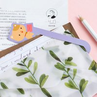 Wholesale box Miss Cat Gift Bookmarks Marker Stationery Gift Realistic Cute Kawaii Cartoon Bookmarks Office School Supply Stationery