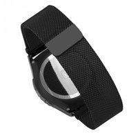 Grossiste en acier inoxydable bande aimant en métal avec barre de printemps pour Samsung Gear S2 classique bande de bracelet bracelet de montre # 45