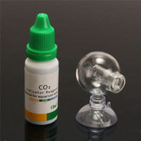 Wholesale Aquarium CO2 Monitor PH Indicator Glass Drop Ball Tester Concentration Detector With ml Detecting Water