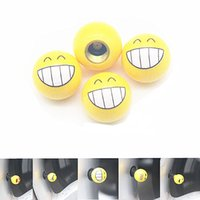 Wholesale 1 Set Universal Fashion Emoji Car Styling Tyre Wheel Valve Cap Tires Car Covers Valve Caps for Car Motorcycle Bicycle