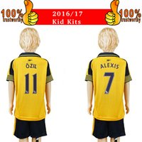arsenal youth soccer - 2017 Kids Kits Arsenals Soccer Jerseys children Youth Sets Ozil Alexis Giroud Kids Set Away Yellow Football Kits Soccer Jersey