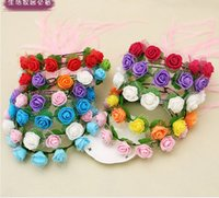 Barrettes artificial grass manufacturers - Bridal wreath wreath tire wreath selling manufacturers selling children s princess seaside tourist attractions
