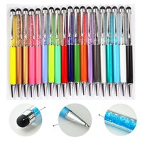 balls ipad - Swarovski Crystal Capacitive Touch Stylus Colorful in Ball Pen for ipad iPhone plus S HTC Samsung