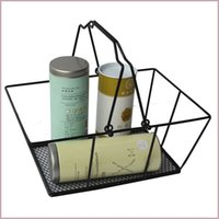 Wholesale New shopping baskets for cosmetics powder coated bastket for Cosmetics store Wire Basket With Metal Handles for Mobile accessories shop