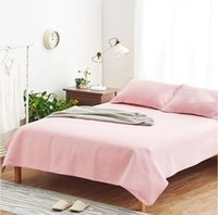 Wholesale Summer sleeping mat Old Coarse Cloth hand woven cotton Bedding article Solid Purple and pink Improve sleep