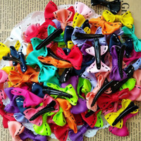 Wholesale 100pcs mixed Handmade Small Bow Baby Kids Children Girls Hair Clips Alligator Barrettes Hairpins hair accessories