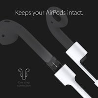 apple ear pods - White Silicone Ear Loop Strap Anti Lost String Rope Cord for Air Pods for Apple Bluetooth Earphones for AirPods